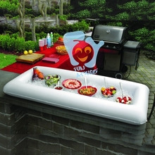 1.34m Inflatable Water Toys Infltable Buffet & Salad Ice Tray Food Cooler Drink Holder Fun Pool Floats Swimming Float