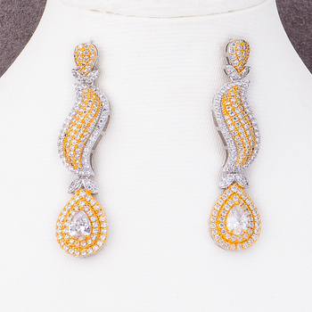 Shiny Charm 4PCS Earrings Necklace Jewelry Set 3