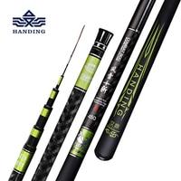 Handing 3.6 8.1m Telescopic Fishing Rod Carbon Fiber Fishing Pole Ultra light Carp Rod super hard Stream Hand rod for big fish