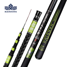 Handing 3.6-8.1m Telescopic Fishing Rod Carbon Fiber Fishing Pole Ultra-light Carp Rod super hard Stream Hand rod for big fish