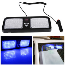 86-LED Car Truck Light Lamp Flashing Modes Auto Sun Visor Strobe Emergency Beacon Warning Lamp Car Parking Bulb 12V Automobiles