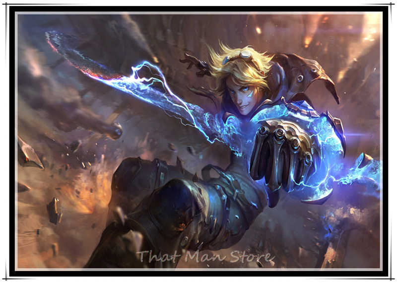 League of Legends LOL משחק ציור באיכות בית תפאורה אמנות תפאורה סלון כרזות קיר אמנות ציור ללא מסגרת חלק 2