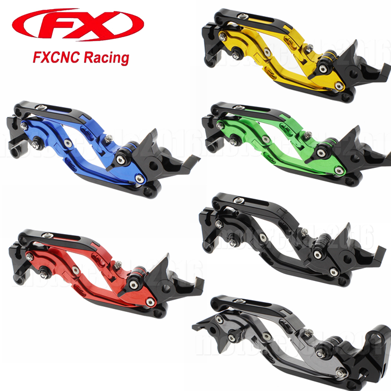 FXCNC Aluminum Foldable/Extendable Motorcycle Brake Clutch Levers For KTM 690 Duke 2008-2011 09 10 Moto Hydraulic Brake Clutch