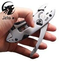 Jelbo Hand Tools Multitool Pliers Pocket Knife Screwdriver Set Kit Adjustable Wrench Jaw Spanner Repair Survival