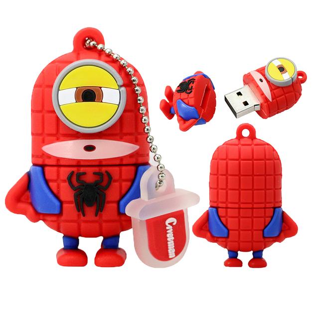 Cartoon Superhero Minions Flash Drive