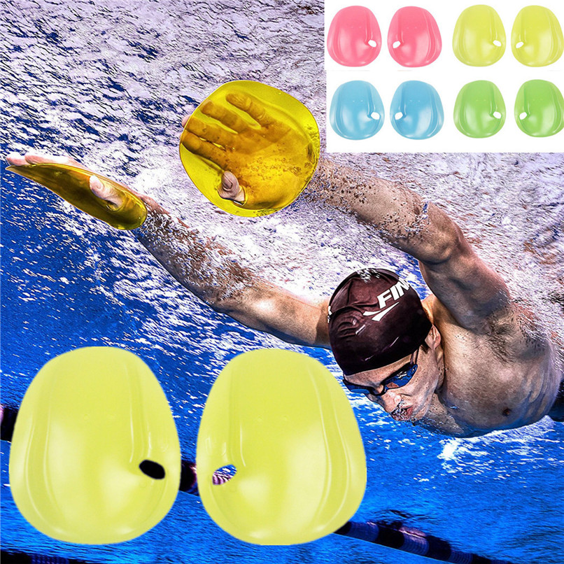1 Pair Training Swimming & Diving Gloves Agility Hand Swimming Paddles Webbed Diving Gloves Red/Yellow/Blue/Green/Transparent