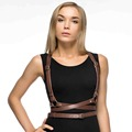 Women Leather Harness Sexy Punk Cross Sculpting waist belts cover bdsm suspender harness belts