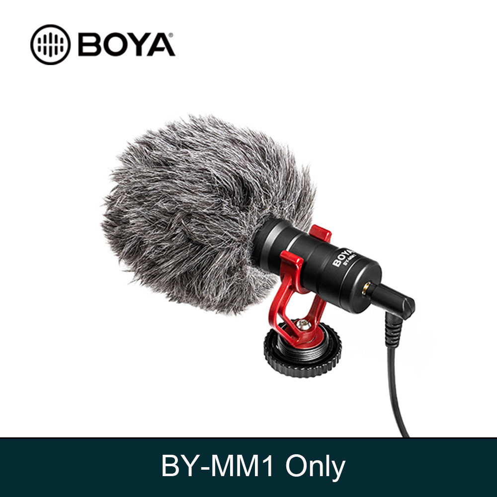 BOYA BY-MM1 Cardioid Microphone  For Smartphone DJI Osmo Nikon Canon DSLR Youtube Vlogging Recording 3.5MM Audio Cable