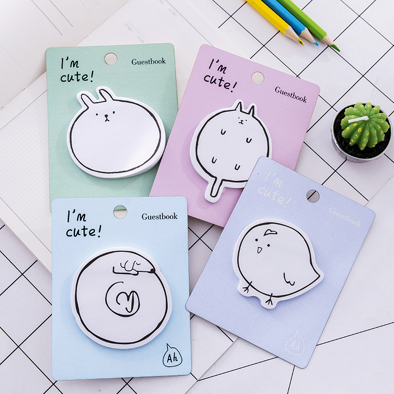 30Pcs/Pack Im Cute Animals Sticker Post It N Times Irregular Memo Pad School Label Gift E0242