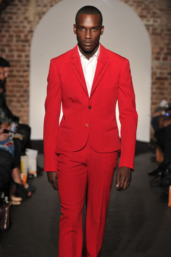 Fashion Red Man Suit Slim Fit Groom Tuxedos Custom Made font b Mens b font Wedding