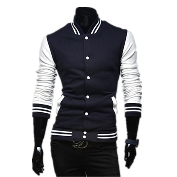 New Arrivals Men Hoddies Fashion Color Fleece Casual Suit Mens Jacket