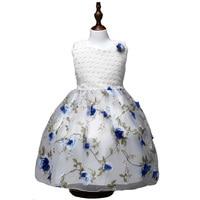 Summer New Flowers Girl Dresses For Wedding Pageant Vestido Infantil Children Kids Clothing Gifts Lovely Princess