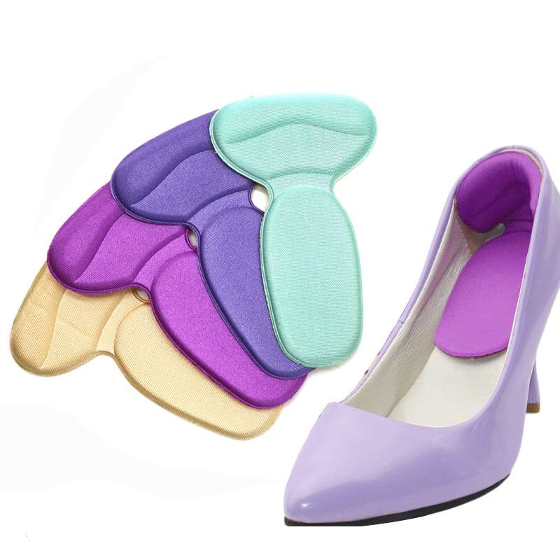 5 Pair Foot Care Heel Insoles Protector Soft Multicolor Insole Pads High Heel Anti Slip Cushion Shoe Pads Insert Insoles