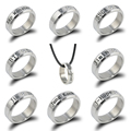 Fashion Bangtan Boys Cartoon Silver BTS Titanium Steel Crystal Rings Christmas Gift Jewelry Rings Accessories For Men And Women