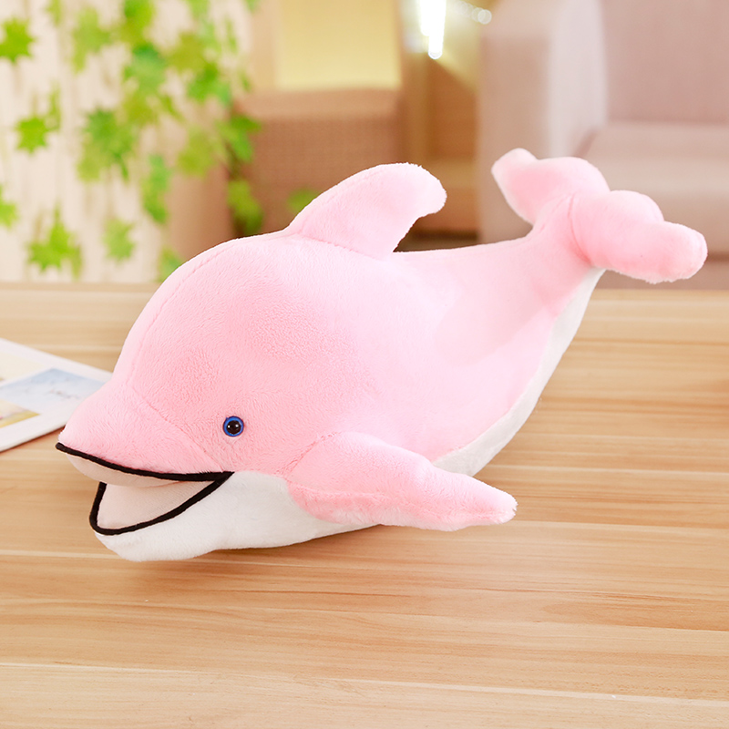 "35/"" 90cm pink Dolphin Stuffed Animal Plush Soft Toy Doll Pillow Cushion"