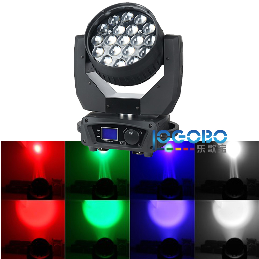 Hot Stage Lighting RGBW 4In1 19x15W Zoom LED Moving Head Beam Wash Light DMX Zoom Function High Beam Lights for Sale  Cheap 2PCS|head wash|led head wash|light for - title=