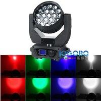 Oferta Iluminación de escenario caliente RGBW 4In1 19x15 W Zoom LED Luz de lavado de haz de cabeza móvil función de Zoom DMX alta luces de haz para la venta, barato 2 piezas