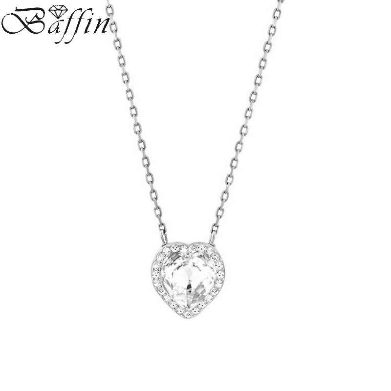 2017 Original Crystal From Swarovski Heart Necklace & Pendant For Women Wedding Jewelry Infinity Chain Collier Mother's Day Gift