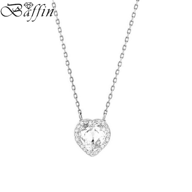 590d64af7eca 2017 Original Crystal From Swarovski Heart Necklace   Pendant For Women  Wedding Jewelry Infinity Chain Collier Mother s Day Gift