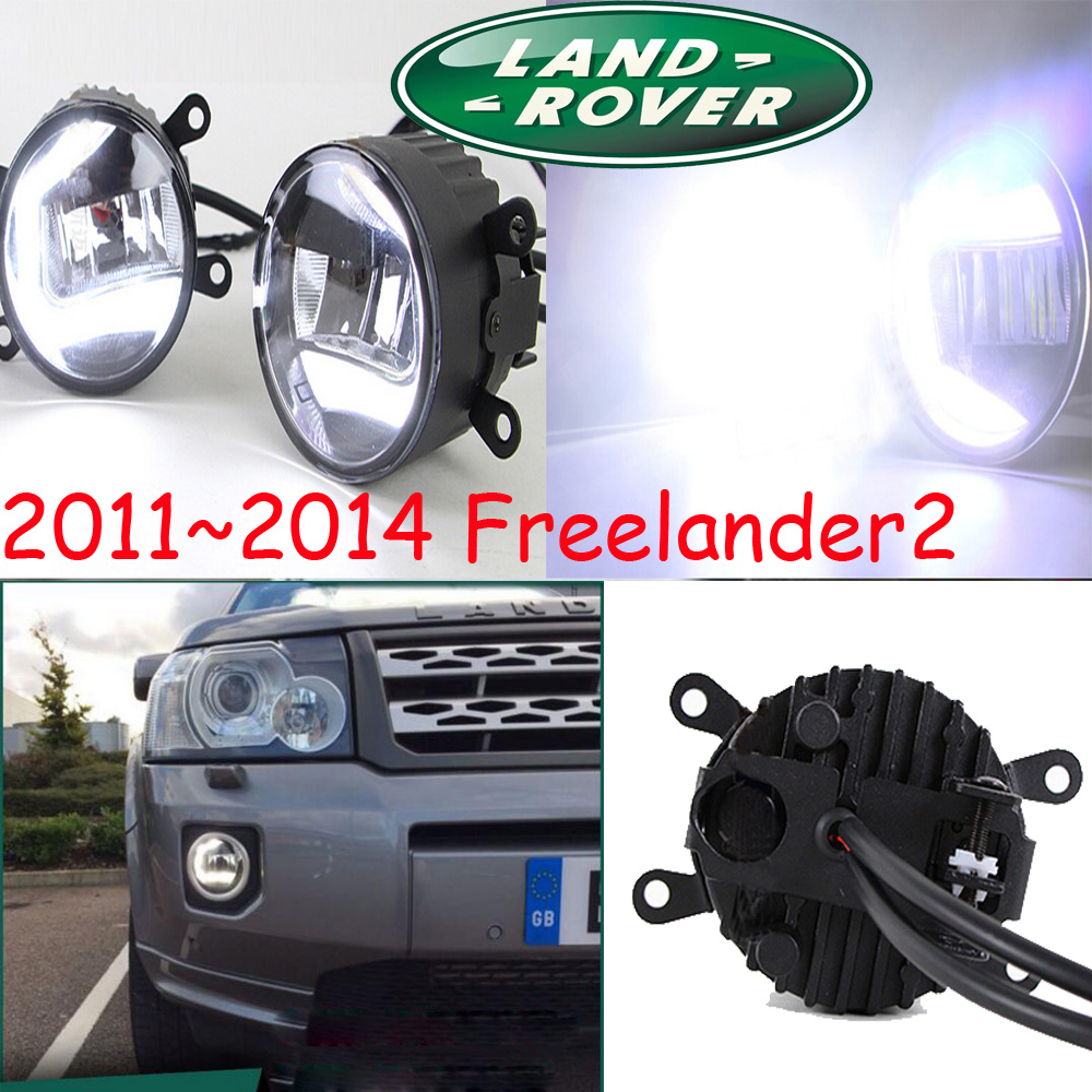 цена на Freelander2 fog light,LED ;2011~2014 ,Free ship!Freelander 2 daytime light,2ps/set+wire,Freelander2