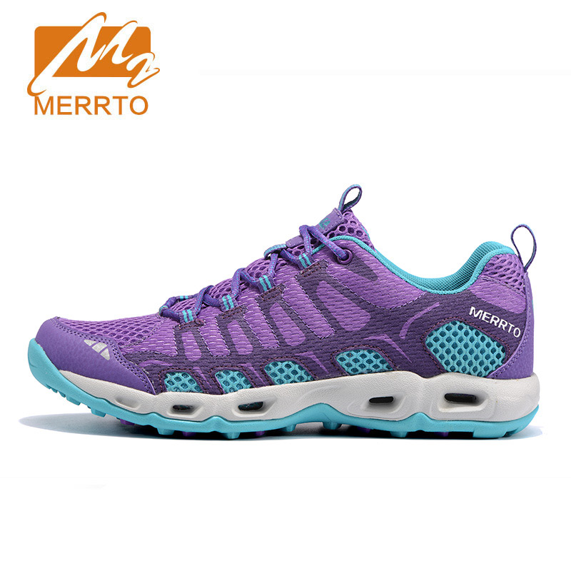 MERRTO Women Outdoor Trail Running Shoes Light Weight Mesh Breathable Female Air Cushion Sneakers Outdoor Sport Athletic Shoes