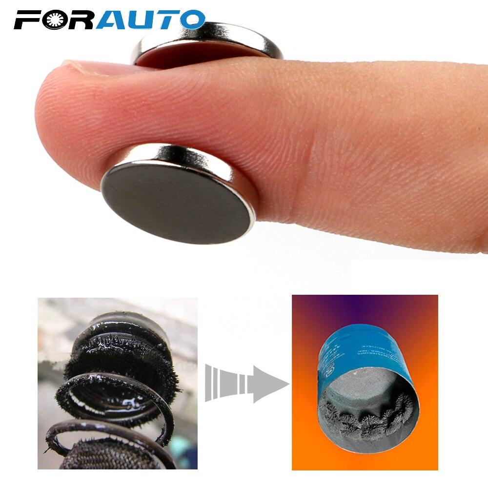 FORAUTO для железного корпуса 2 шт. сильный адсорбционный магнит топливный экономайзер масляный фильтр для двигателя автомобиля ATV SUV Motocycle мото... title=