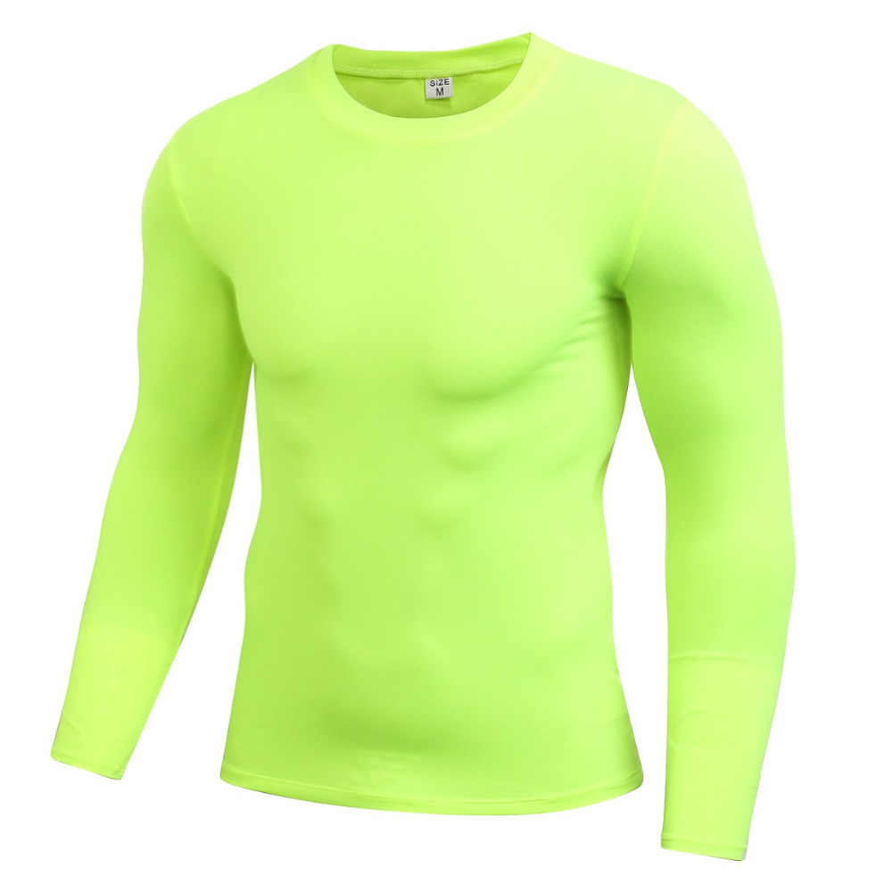 Mannen Lange Mouw Sport Compressie Basketbal Running Tops Strakke T Shirts Sneldrogende Fitness GYM Base Layer Tops