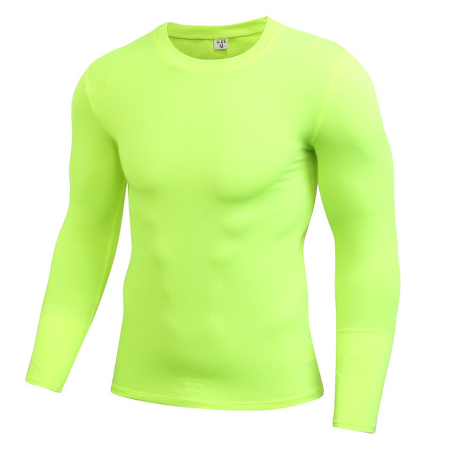 320d8765 Men Long Sleeve Sports Compression Basketball Running Tops Tight T Shirts  Fast Drying Fitness GYM Base