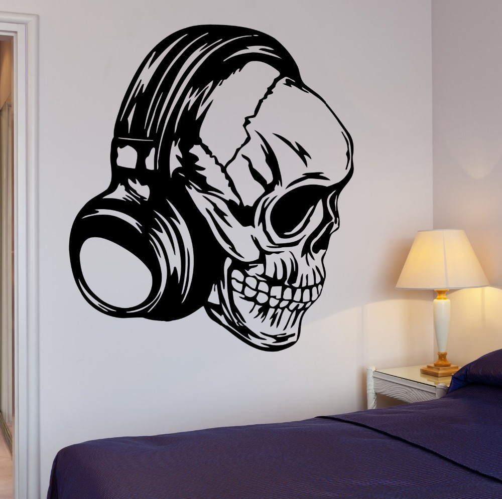 Skull Bedroom Accessories Compare Prices On Skull Wall Decal Online Shopping Buy Low Price