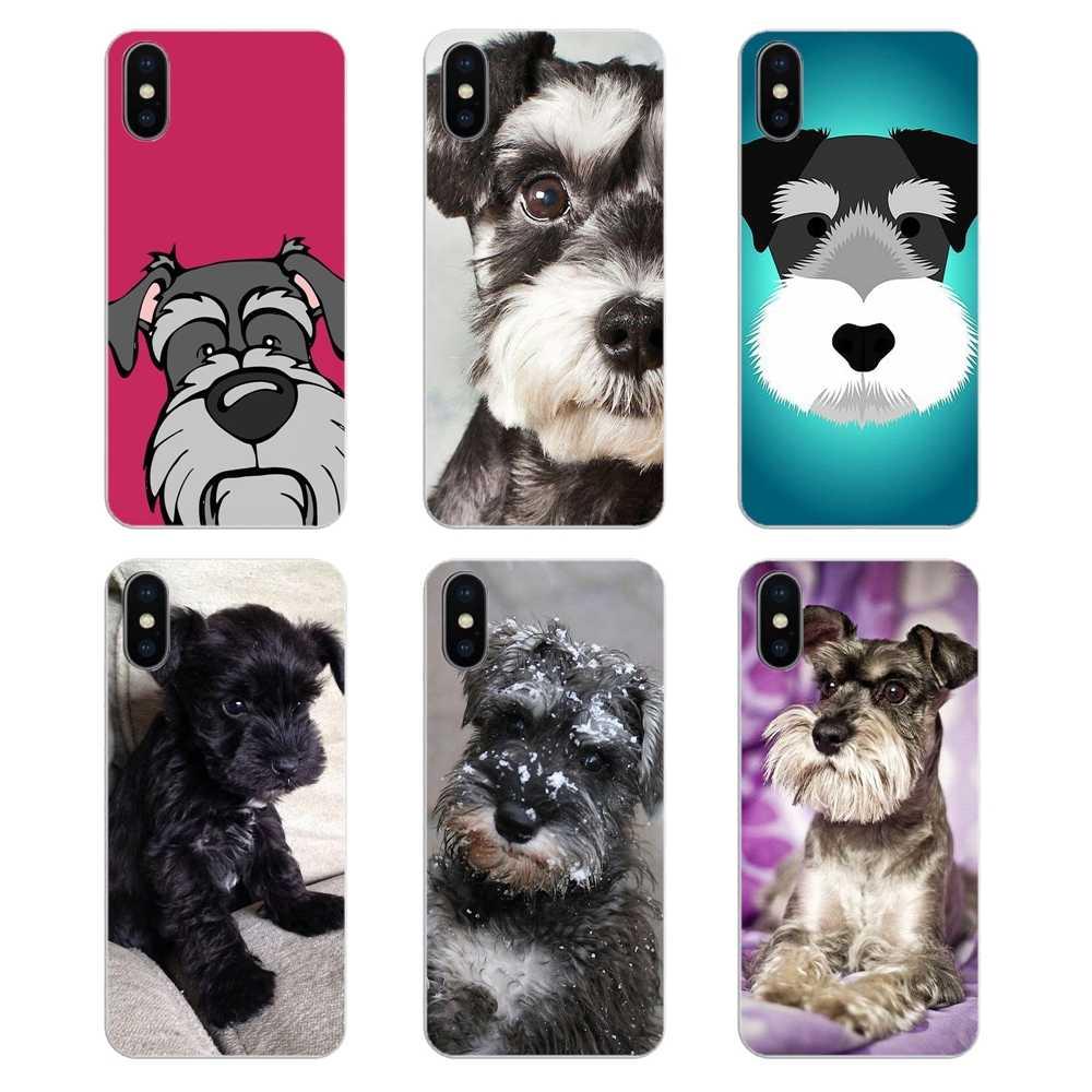 Прозрачные мягкие чехлы для iPod Touch iPhone 4 4S 5 5S 5C SE 6 6S 7 8 X XR XS Plus MAX миниатюрный Шнауцер щенок