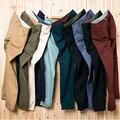 2017 Primavera Nuevos Pantalones Casuales Hombres de Algodón Sólido Slim Fit Pantalones Hombres Pantalon Homme plus tamaño 28-46 JPYG161