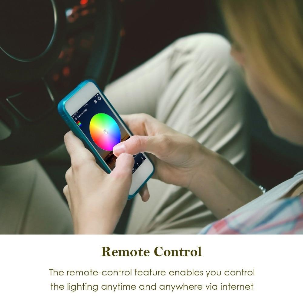 HTB1gecJdBKw3KVjSZTEq6AuRpXaH 5050 RGB LED Strip Phone Control Wireless WiFi Tape Works With Amazon Alexa Google Home IFFFT DC 12V Flexible Strip Light+Power