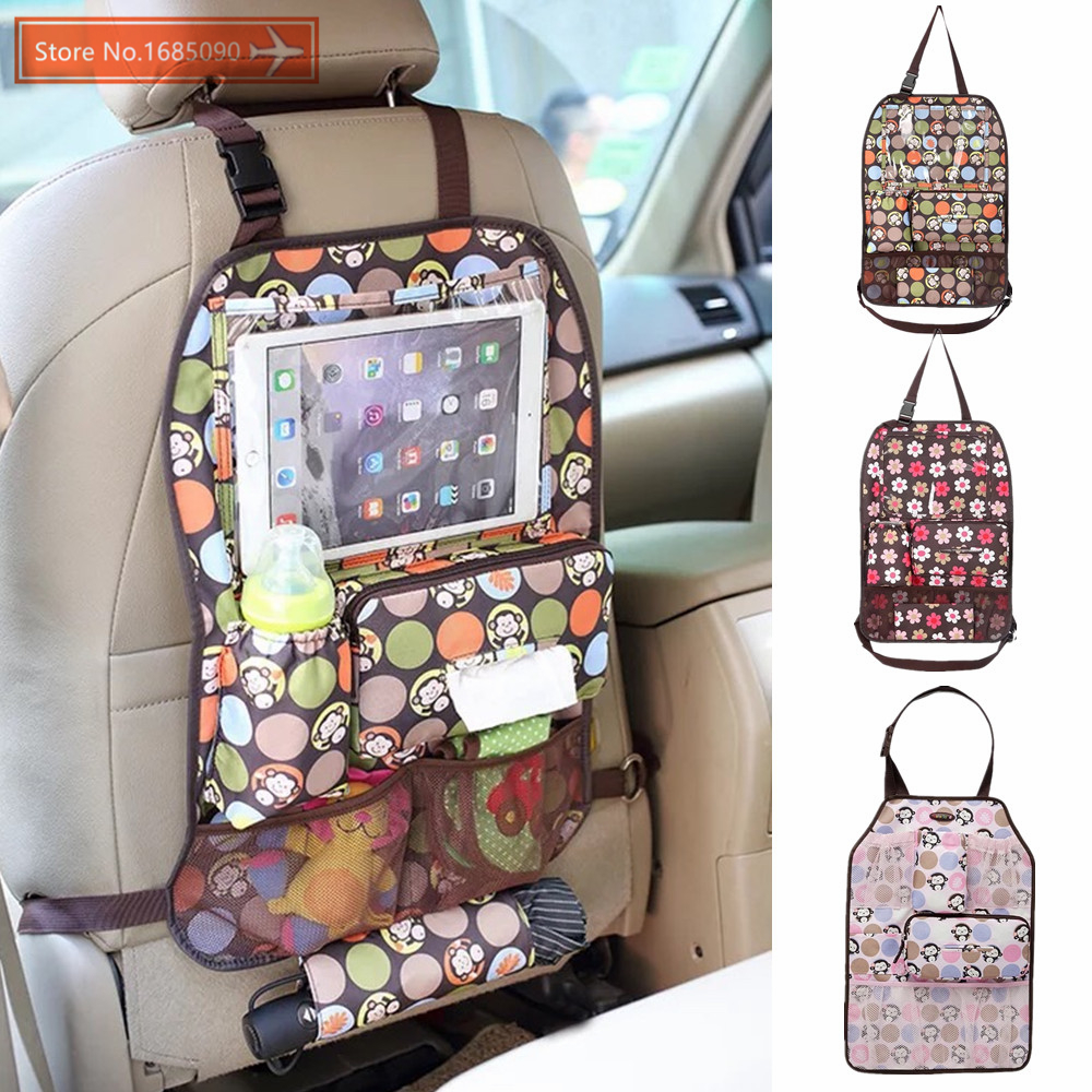 COLORLAND Car Seat Back Baby Travel Nappy Bag For Stroller Hanging Baby Bag Organizer Insulated Bottle Bag Storage Diaper Bags