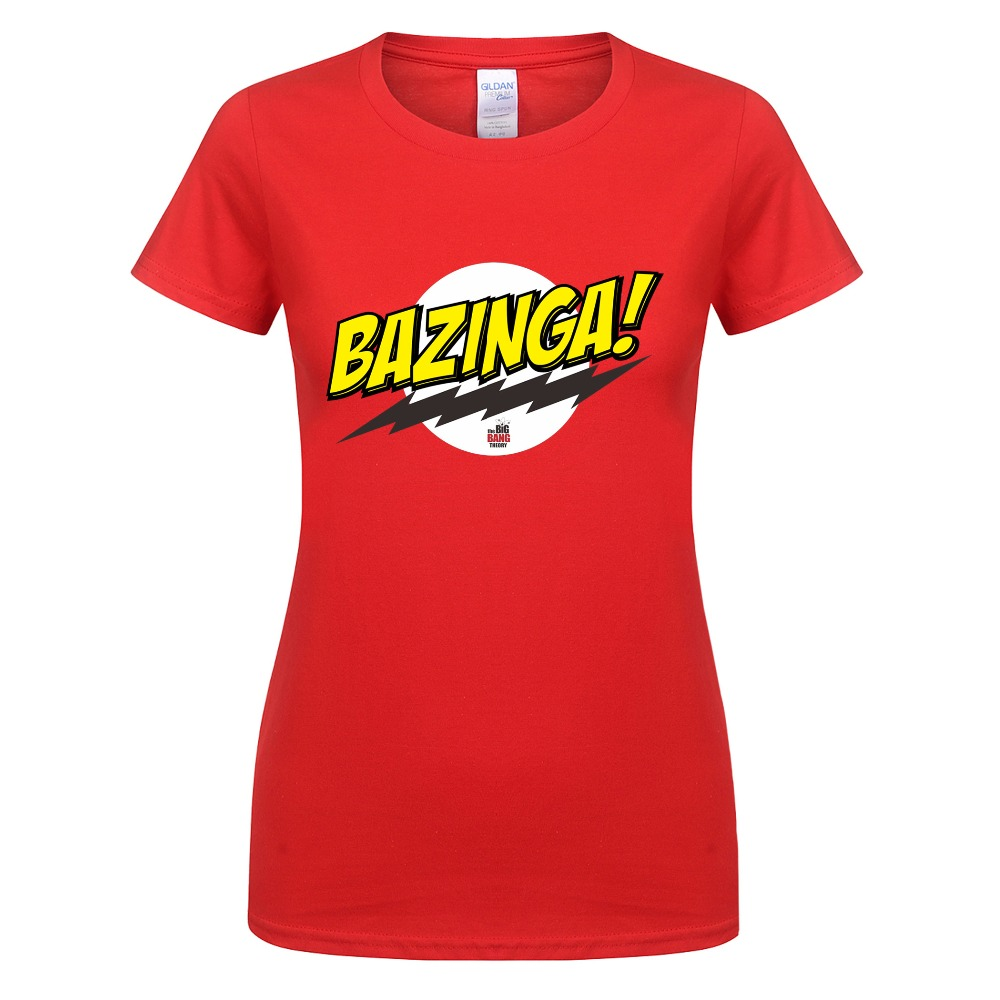 2017 the big bang theory t shirt bazinga women t shirts. Black Bedroom Furniture Sets. Home Design Ideas