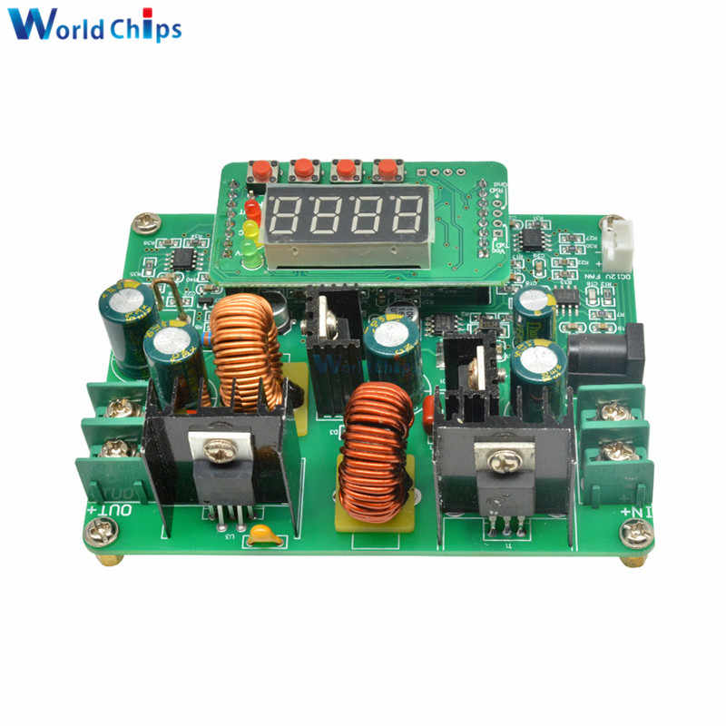 DC-DC 38V Digitale Step Up Step Down Module Boost Buck Converter Zonne-energie Opladen Board Led Digit Tube Display Voltmeter ampèremeter