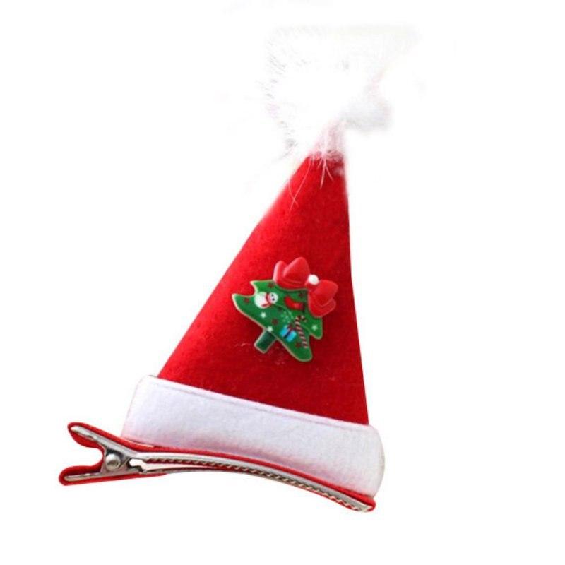 1pcs New Fashion Children Christmas Gift Headwear Hair Clips Cap Hairpins Girls Hair Accessories