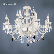 Large 12 Bulbs European Candle Crystal Chandeliers Ceiling Bedroom Living Room Modern E14 Retail and Wholesale lustres
