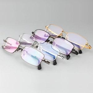 Image 2 - Hotony Mode Mannen Titanium Legering Brilmontuur Optische Brillen Recept Brillen Volledige Velg Frame Bril Vision Frame