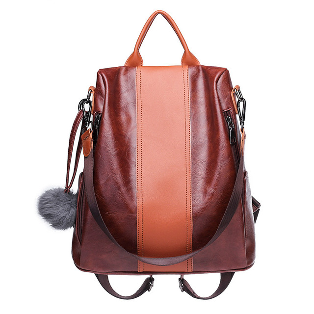 2018 Women Backpacks Ladies Pu Leather Backpack Female College Students School  Bags for Girls Travel Back 91509bfb7e8c9