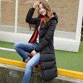 2016 New Women Winter Slim Down Padded Fashion Jacket Coat Medium Long Down Cotton Outwear Parkas