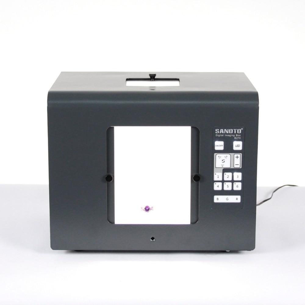 Livraison gratuite SANOTO marque LED Mini Photo Studio photographie boîte à lumière boîte de boîte à lumière Photo B430 bijoux, Diamants les boîtes d'éclairage