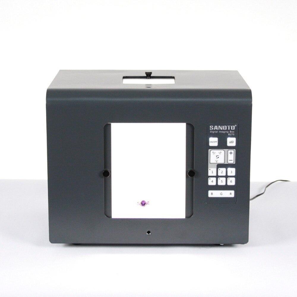 Trasporto libero sanoto marca led mini photo studio box light photography photo box softbox b430 gioielli, diamanti scatole di illuminazione