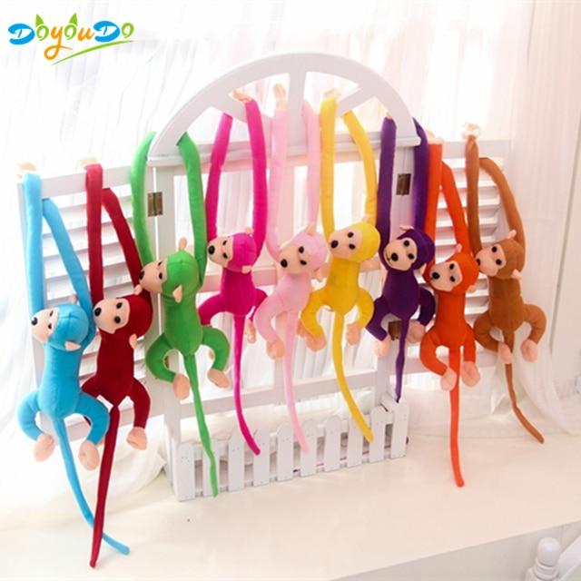 60 cm Kawaii brazo largo mono de brazo a la cola juguetes de peluche del bebé apaciguar animales de peluche mono de peluche de juguete niños regalo Juguetes