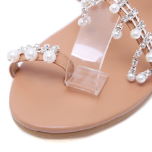 Pearl Decorated Flat Sandals