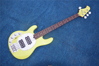 Factory custom 21 frets 4 strings music man electric bass guitar with mahogany fingerboard,left hand bass guitar can be changed