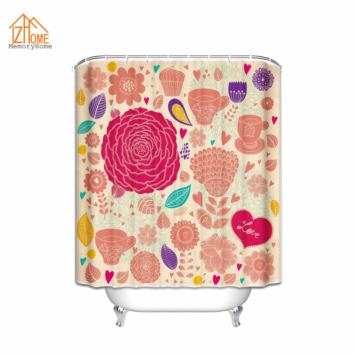 Memory Home Custom Valentines Day Shower Curtain Love Decor Colorful  Cheerful Carnival Happy Fabric Bathroom Accessories - Online Get Cheap Valentine Shower Curtain -Aliexpress.com