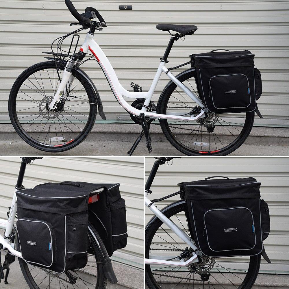 Roswheel 30L Bicycle Bag Double Side Rear Bag Cycling <font><b>Rack</b></font> Rear <font><b>Seat</b></font> Bag Pannier Bike Bag Accessory Pannier Pouch