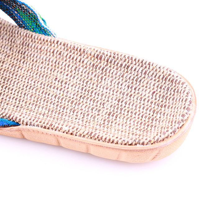 1pair Summer Slippers For Women Chain Slides Home Floor Shoes Flax Cross Belt Silent Sweat Slippers Women Sandals 3