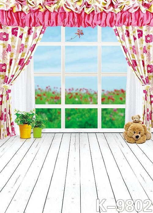 아이들을위한 3x5FT 커튼 사진 비닐 배경 Windows 사진 워크 스테이션 컴퓨터로 인쇄 한 우드 사진 배경