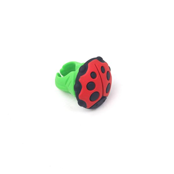 Silicone Ladybug Ring Shape Pin Cushion Needle Ring Pincushion